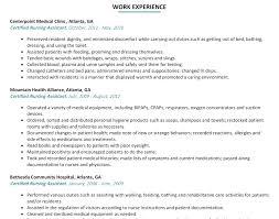 sample resume for cna job cna sample resume entry level professional entry level nursing