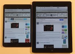 android tablet comparison apple 3 and mini comparison