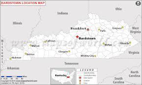 kentucky map bardstown is bardstown kentucky