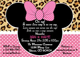 minnie mouse baby shower invitations printable pdf minnie mouse leopard baby shower invitation