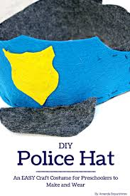 community helpers police hat craft for preschoolers pretend play