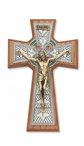 catholic wall crucifix celtic wall crucifix 8 inch st benedict crucifix st benedict