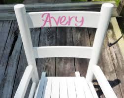 White Childs Rocking Chair Kids Rocking Chair Etsy