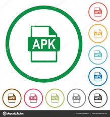 what is apk file format apk file format flat icons with outlines stock vector