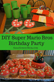 Super Mario Decorations Diy Super Mario Bros Birthday Party Real Honest Mom