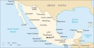political map of mexico of mexico