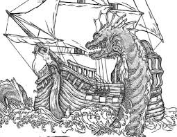 image result for medieval sea monster sea monsters pinterest