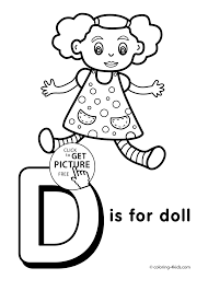 letter d coloring page letter d coloring pages of alphabet d