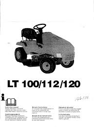 husqvarna lawn mower lt100 user guide manualsonline com