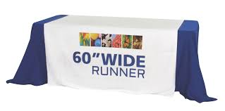 trade show table runner exhibit table covers sign authority wheaton naperville lisle il