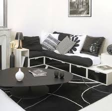 living room inspiring black and white interior design for small