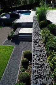 idee de jardin moderne cuisine mur gabion dans le jardin moderne un joli ã lã ment