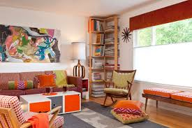 Interior Design Mid Century Modern by Colorful Mid Century Modern Residence Midcentury Family Room