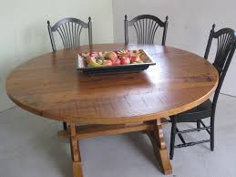hand crafted round barn wood trestle table by ecustomfinishes custom made round barn wood trestle table