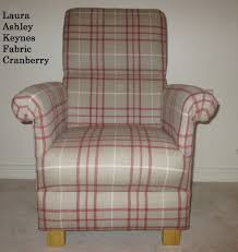 Fabric Armchair Laura Ashley Keynes Fabric Chair Cranberry Grey Armchair Check Red