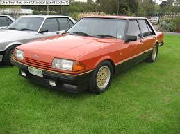 ford fairmont ghia xe esp chestnut red over charcoal ford