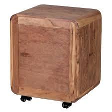 Schreibtisch Holz Mit Schubladen Wohnling Rollcontainer Akazie Massivholz Design Schubladenschrank