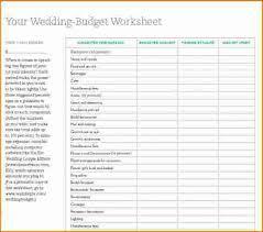 6 wedding budget spreadsheet printable receipt