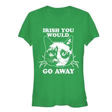 go away green grumpy cat junior u0027s irish you would go away t shirt