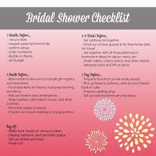 bridal shower checklist for the bride and bridesmaids monthly to