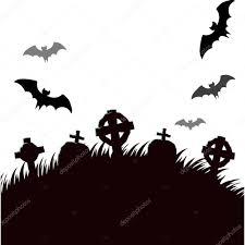 halloween graveyard at night vector illustration u2014 stock vector