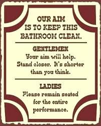 cool keep clean bathroom signs clean restroom signs related
