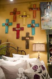 home decor crosses impressive idea wall decor crosses home wooden iron turquoise rustic