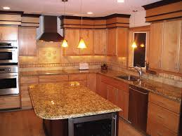 oak kitchen cabinets with granite countertops granite