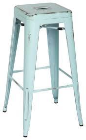 24 inch backless bar stools turquoise metal bar stools hudson goods industrial stool loft 24