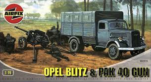 opel blitz ww2 airfix a02315 opel blitz u0026 pak 40 gun 1 76 scale series 2 plastic
