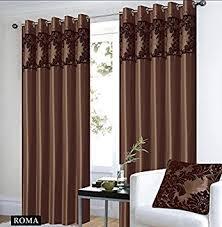 Chocolate Curtains Eyelet Eyelet Chocolate Curtains Royal Damask Curtains Eyelet Faux Silk