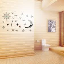 Decoration Star Wall Decals Home by Online Shop Sun Moon Star Mirror Wall Stickers Home Decoration