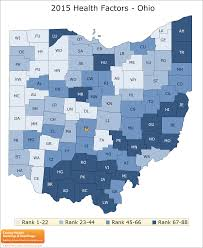 Map Ohio Counties by Ohio Rankings Data County Health Rankings U0026 Roadmaps
