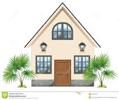 simple house pleasing 10588727 a simple house yellow pastel color