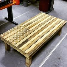 Build Large Coffee Table by American Flag Diy Pallet Coffee Table Diyideacenter Com