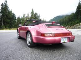 porsche 964 cabriolet porsche 911 964 cabriolet turbolook strawberry red metallic