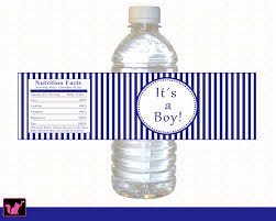 25 personalized nautical navy blue baby shower bottle water labels