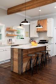 Ivory White Kitchen Cabinets by Fancy Solid Wooden And Granite Kitchen Island With Black Stool