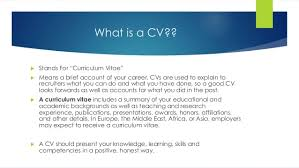 What Is Cv Means Resume Cv And Resume