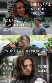 Meme Marvel - get bucky the insightful panda