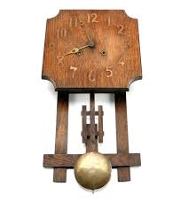 Wooden Wall Clock The National Clock And Manufacturing Company Wooden Wall Clock Ebth