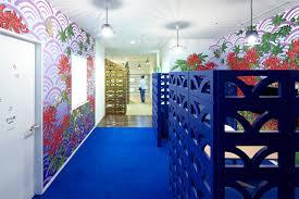 16 blue cubicle walls flower wallpaper interior design ideas