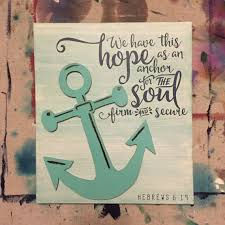 Anchor For The Soul Etsy - hebrews 6 19 custom handmade wooden sign with anchor cutout by