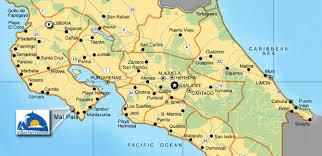 san jose costa rica on map costa rica hotel directions