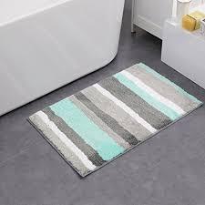 amazon com hebe non slip bathroom mats shag microfiber shower