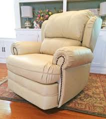 Leather Rocker Recliner Lane Hancock 5421 Rocker Recliner Cream Leather Recliners Lift