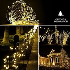 dimmable led string lights sungluber 33 ft 100 warm white led