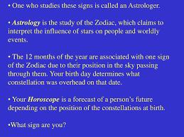 ppt constellations astrology horoscopes the zodiac