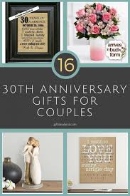 30 year anniversary ideas 16 best 30th anniversary gifts for happy couples attractive 30