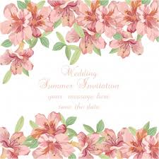 Watercolor Flowers - pink watercolor flowers wedding summer invitation vector free
